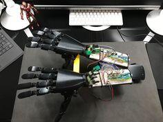 Now double Arm . #bionic #robot #design #DIY #industrialdesign #prosthetics #instagood #3dprint #follow #3D #3dmodel #cosplay #cyborg #mechatronics #medical #beautiful #technology #amazing #style #cool #ironman #maker #arduino #RaspberryPi #mechanics #animation #look #instagood #selfie #love #inspiration
