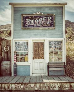 The Most Trending Pins: Rustic Photography Barber Shop Country Decor Flat Icons, Barbershop Design, Barbershop Ideas, Barber Shop Decor, Barber Shop Vintage, Rustic Photography, Shop Fronts, Beauty Shop, Country Decor