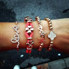 I love stacked bracelets