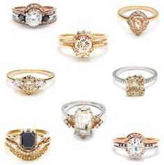 Anna Sheffield Bridal Rings - Glitter, Inc. the black diamond