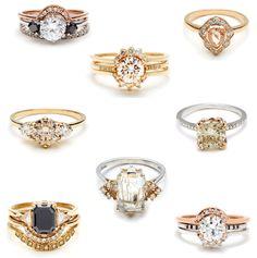 Anna Sheffield Bridal Rings - Glitter, Inc. the black diamond