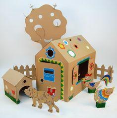 Картонный домик для игры детям www.moms-key.ru