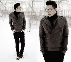 menswear, mensstyle, mensfashion, OOTD, winter look, All black, Urban Planet Leather Jacket, Uniqlo Turtle Neck Shirt, HM Pants #mensfashion #mensstyle #trend #styleblogger #fashionblogger #winter