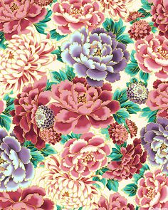 Imperial Collection 14 - Peony Splendor - Quilt Fabrics from www.eQuilter.com