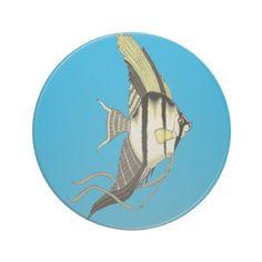 Angelfish Sandstone Drink Coaster
