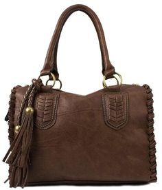 Scarleton Vintage Top Zip Satchel H111321 - Coffee