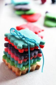 la cocina de ompa-lompa: galletas de colores
