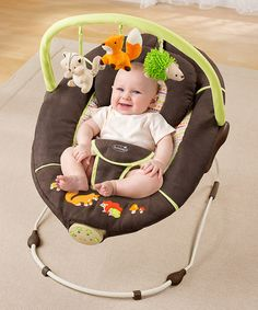 Take a look at this Brown Fox Sweet Comfort Musical Bouncer by Summer Infant on #zulily today!
