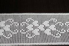 White crochet cotton table runner