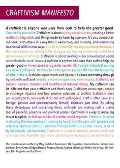 The craftivism manifesto - craftivism.