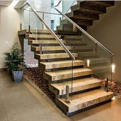 11 modern stair railing designs that are perfect Modern Stair Railing, Stair Railing Design, Staircase Railings, Modern Stairs, Staircases, Home Stairs Design, Interior Stairs, Modern House Design, Escalier Design