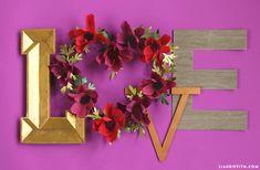 Cosmos Flower Heart Wreath