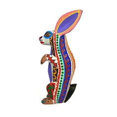 RABBIT-Oaxacan-Alebrije-Wood-Carving-Handcrafted-Mexican-Folk-Art-Sculpture