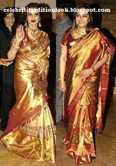 rekha and Jayaprada in Silk saree