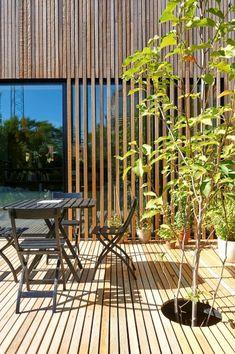 Morsøvej, Vanløse - All About Balcony House Cladding, Timber Cladding, Exterior Cladding, Facade Design, Exterior Design, Architecture Design, Design Your Dream House, House Design, Wooden Facade