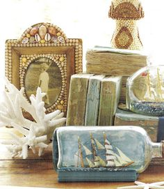 Lovely beach vignette by A House Romance