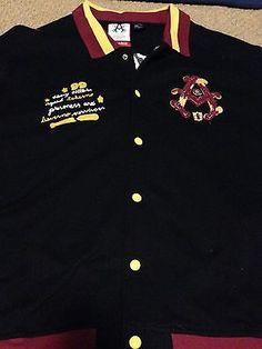 Akademiks Stadium Division Button Up Jacket Size 3XL Great Design XXXL | eBay