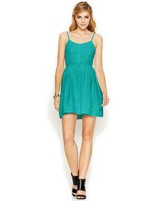 Bar III Chevron Striped A-Line Dress - Dresses - Women - Macy's