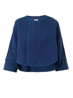 Collarless melton-wool jacket | Chloé | MATCHESFASHION.COM