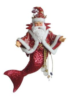 December Diamonds Santa Daddy II Merman Christmas Ornament New In Box 55-55008