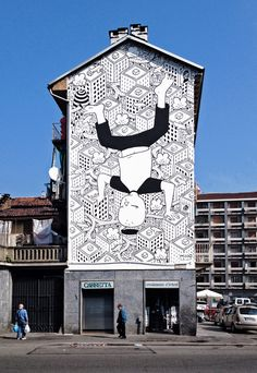 Meet Millo, The Street Artist Who Paints Massive Monochromatic Murals Around Italy
