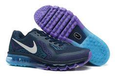 Nike Air Max 2014 Mørkblå Lysblå Lilla Herresko