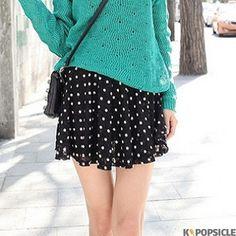 Cute Dot Band Skirt