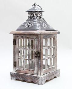 Подсвечник домик с ажурной крышей