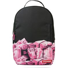 7bee6add6217 Sprayground Pink Money Rolled DLX Backpack ( 46) ❤ liked on Polyvore  featuring bags