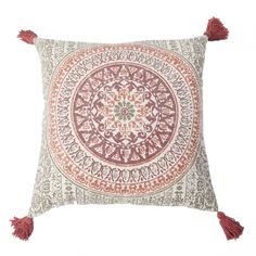 Add texture and style to your home with our Madala cushion. With a vibrant pattern, rich colour and luxurious tassel detail, this cushion will make a stunning addition to your home. Mulling Spices, Mandala, Vibrant, Cushions, Tapestry, Pattern, Home Decor, Throw Pillows, Hanging Tapestry