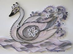 Beautiful Swan - by: quillingworld