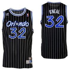 adidas Shaquille O'Neal Orlando Magic Youth Hardwood Classics Retired Player Swingman Jersey - Black