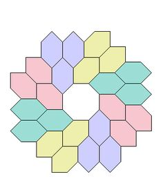 Hexagon tessellation Maybe use for English paper piecing.  Octagon & Honeycombs PaperPieces.com