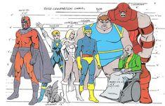 X-Men Size Comparison Chart by Russ Heath
