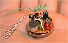 Tiny FM transmitter bugs rooms