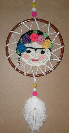 Crochet Wall Art, Crochet Wall Hangings, Crochet Home, Cute Crochet, Seed Bead Patterns, Macrame Patterns, Easy Crochet Patterns, Beading Patterns, Crochet Dreamcatcher