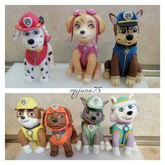 Paw patrol figurine saracino Paw Patrol Cake, Fondant Cakes, Luigi, Cake Decorating, Daily Inspiration, Fictional Characters, Ideas, Porcelain Ceramics, Recipes