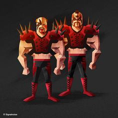 Hawk and Animal, The Legion of Doom. #WWE Superstar Illustrations #graphicdesign