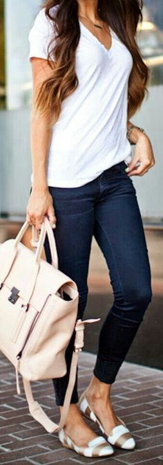 Plain Jane weekend casual. Oh those shoes.