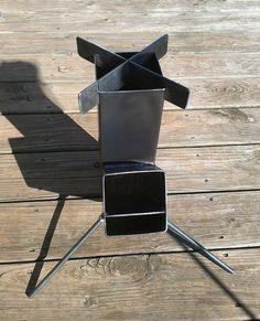 Wood Burning Rocket Stove Self Feeding Design all welded steel construction