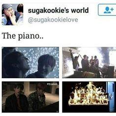 The pianooooooo! ...When I said goodbye HYYH.. I meant goodbye! But here we go again lol ❤ #BTS #방탄소년단