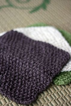 organic knit washcloth
