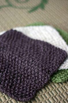 organic knit washcloth