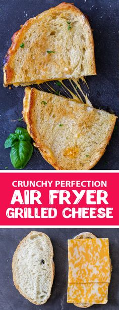 Air fryer grilled cheese is super easy to make and tastes delicious. This sandwich is the perfect lunch or dinner for kids, you can just serve the sandwich as is or serve it with a bowl of classic tomato soup. This grilled cheese has a super crunchy breading with a melty center, perfect for any busy weekday. This is the easiest lunch you will ever make for your children. #airfryerrecipes #grilledcheese