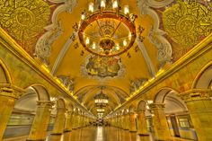 Photo of the Day – The Subway State Room of Moscows #Subway – #Moscow, #Russia    I remember seeing some type of TV special on the Moscow subway stations a while back and was reminded of them while researching our recent trip to Moscow. Fortunately, Brad and I found just enough time to quickly try to capture 3 of Moscow's most beautiful subway stations.    Photo from #absolutevisit at www.absolutevisit.com - all images Creative Commons Noncommercial