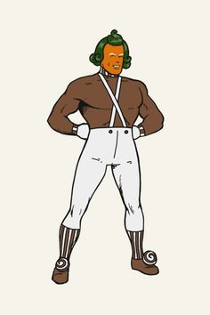 Superman dresses up as Oompa Loompa
