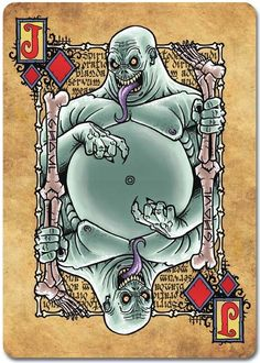 Grimoire-Playing-Cards-Necromancy-Jack-of-Diamonds