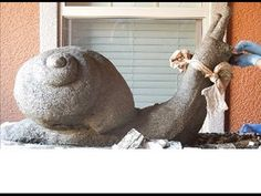 ▶ Giant Hypertufa Snail! Recipes and Tips for Hypertufa Planters, Troughs and Sculpture - YouTube