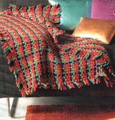Un plaid en tricotin