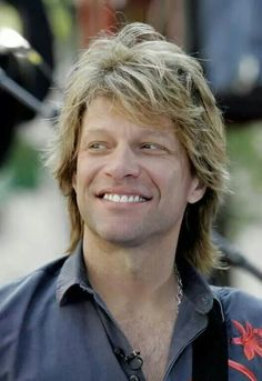 """Jon Bon Jovi - Beautiful smile and the Bongiovi nose, which Jon says """"goes from ear-to-ear"""""""